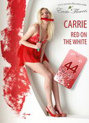 Red on the white