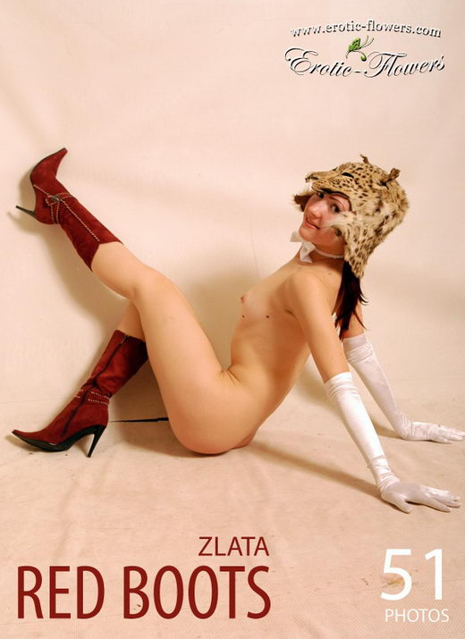 Zlata - `Red Boots` - for EROTIC-FLOWERS