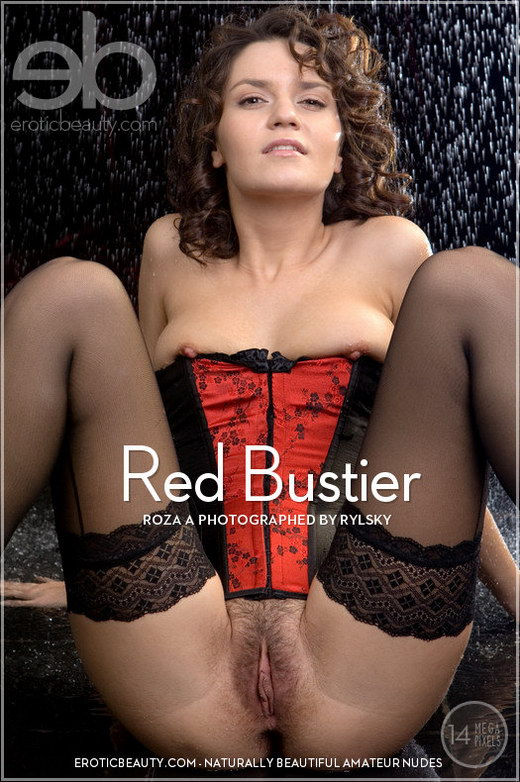Roza A - `Red Bustier` - by Rylsky for EROTICBEAUTY
