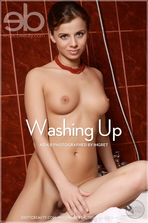Aida B - `Washing Up` - by Ingret for EROTICBEAUTY