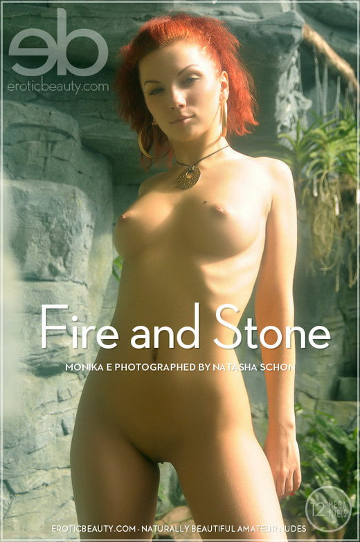 Monika E - `Fire and Stone` - by Natasha Schon for EROTICBEAUTY