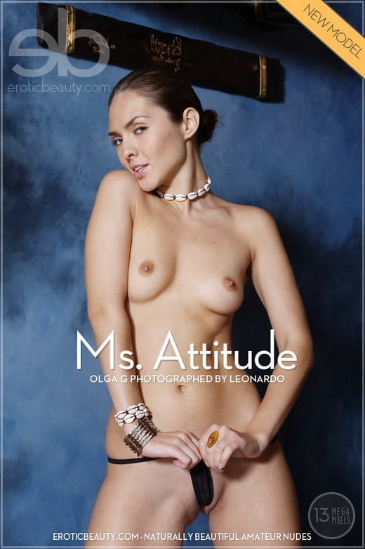 Olga G - `Ms. Attitude` - by Leonardo for EROTICBEAUTY