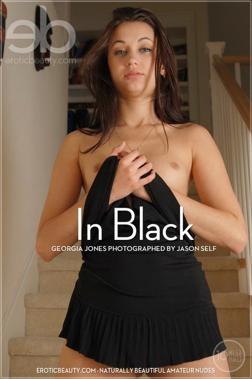 Georgia Jones - `In Black` - by Jason Self for EROTICBEAUTY