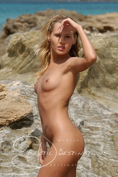 Yvonne - `Blue Sea` - by Martin Krake for EROTICDESTINATIONS