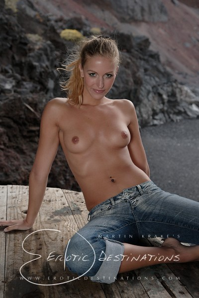 Leslie - `Wooden Table` - by Martin Krake for EROTICDESTINATIONS