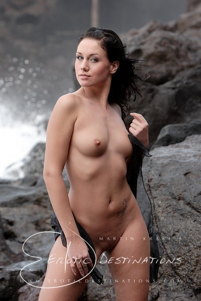 Denise - `Stormy Beach` - by Martin Krake for EROTICDESTINATIONS