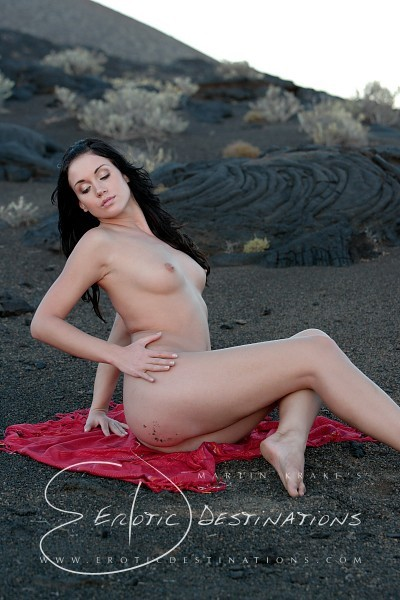 Denise - `Red Blanket` - by Martin Krake for EROTICDESTINATIONS