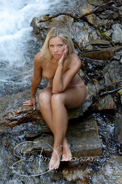 Jenni - `Waterfall` - by Martin Krake for EROTICDESTINATIONS