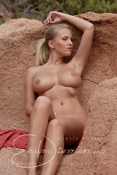 Janine - `Red Rocks` - by Martin Krake for EROTICDESTINATIONS