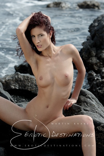 Leanna - `Black Beach` - by Martin Krake for EROTICDESTINATIONS