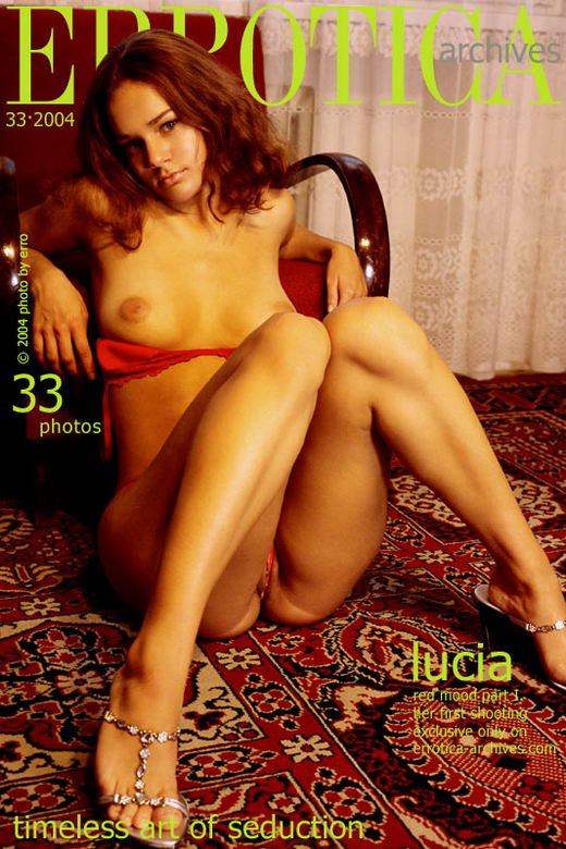 Lucia in Red Mood Part I. gallery from ERROTICA-ARCHIVES by Erro