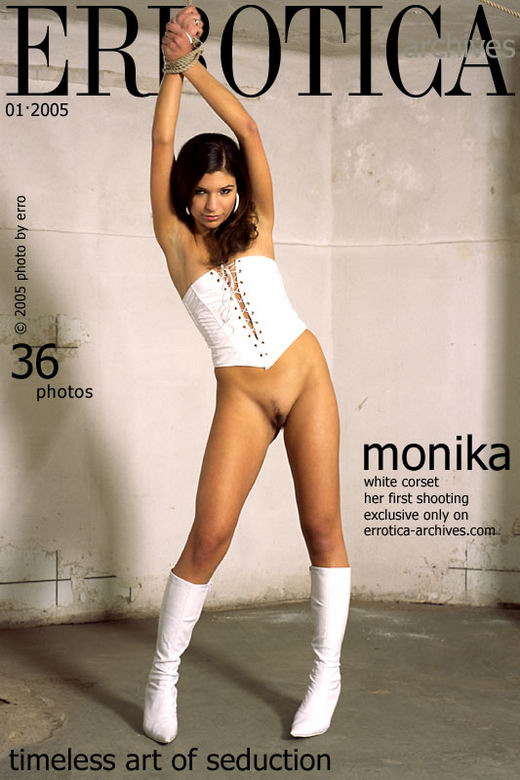 Monika - `White Corset` - by Erro for ERROTICA-ARCHIVES