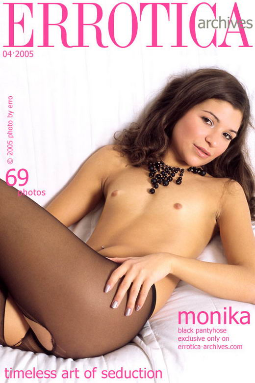 Monika - `Black Pantyhose` - by Erro for ERROTICA-ARCHIVES