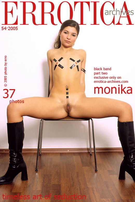 Monika in Black Band - Part II gallery from ERROTICA-ARCHIVES by Erro