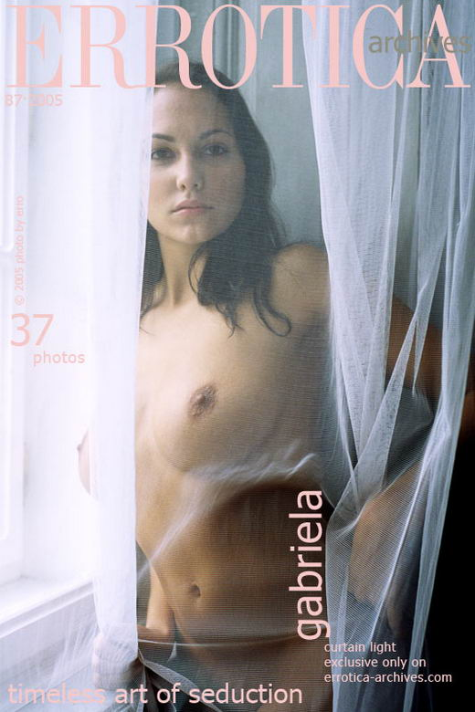 Gabriela - `Curtain Light` - by Erro for ERROTICA-ARCHIVES