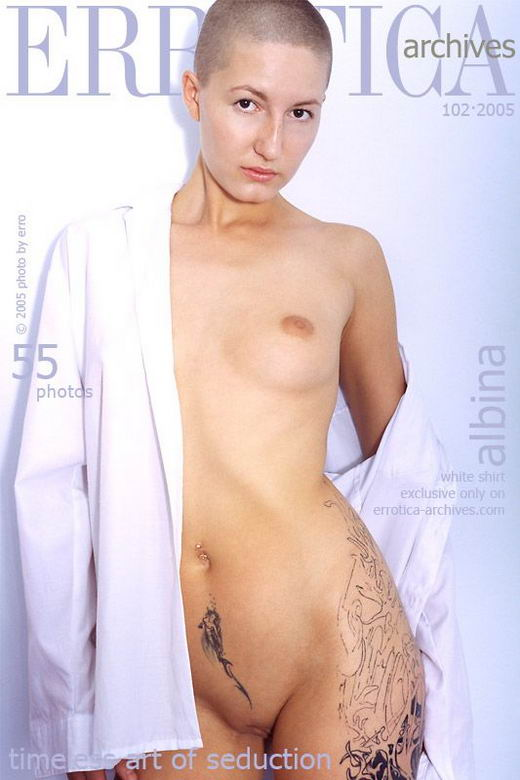 Albina in White Shirt gallery from ERROTICA-ARCHIVES by Erro