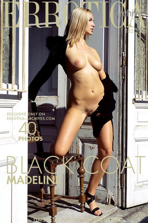 Madeline - `Black Coat` - by Erro for ERROTICA-ARCHIVES