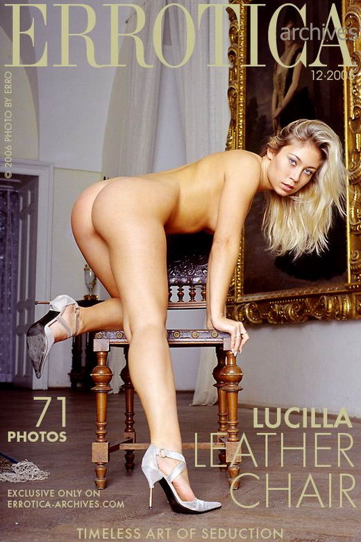 Lucilla - `Leather Chair` - by Erro for ERROTICA-ARCHIVES