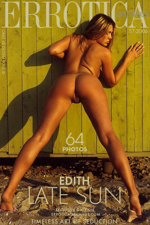 Edith - `Late Sun` - by Erro for ERROTICA-ARCHIVES