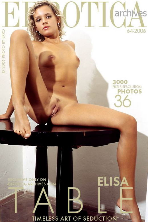 Elisa - `Table` - by Erro for ERROTICA-ARCHIVES