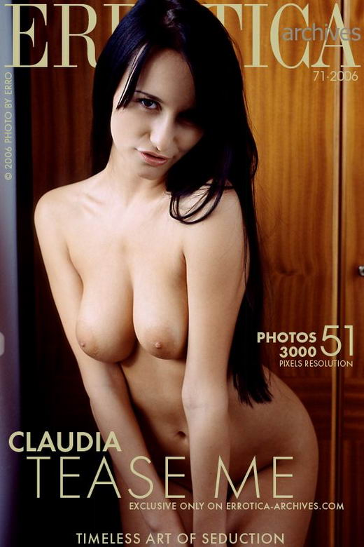 Claudia - `Tease Me` - by Erro for ERROTICA-ARCHIVES