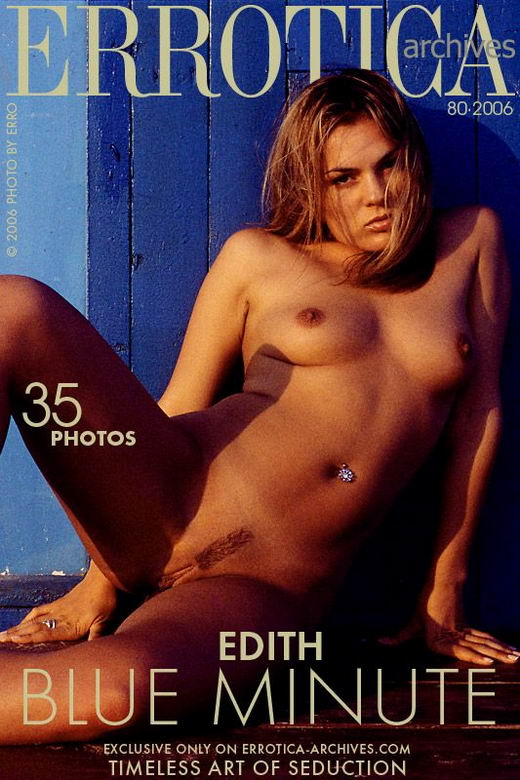 Edith - `Blue Minute` - by Erro for ERROTICA-ARCHIVES