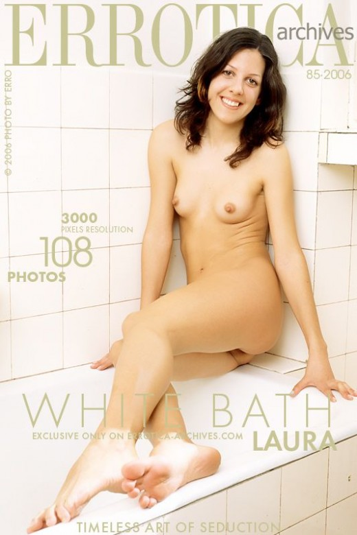 Laura - `White Bath` - by Erro for ERROTICA-ARCHIVES