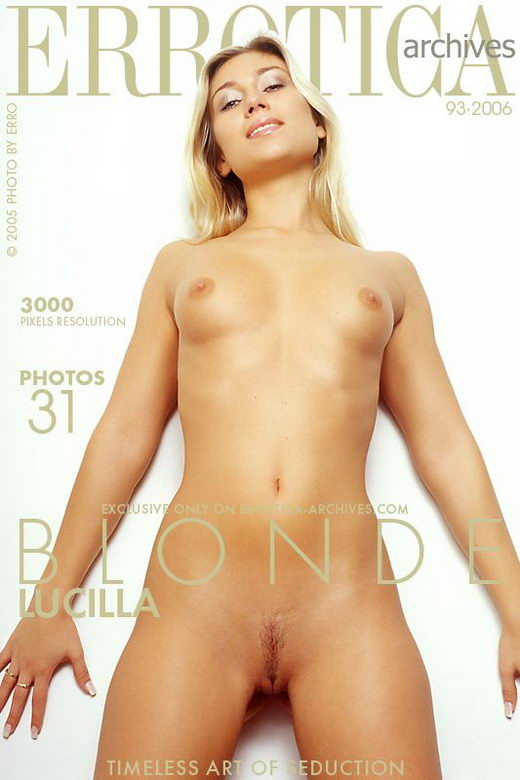 Lucilla - `Blonde` - by Erro for ERROTICA-ARCHIVES