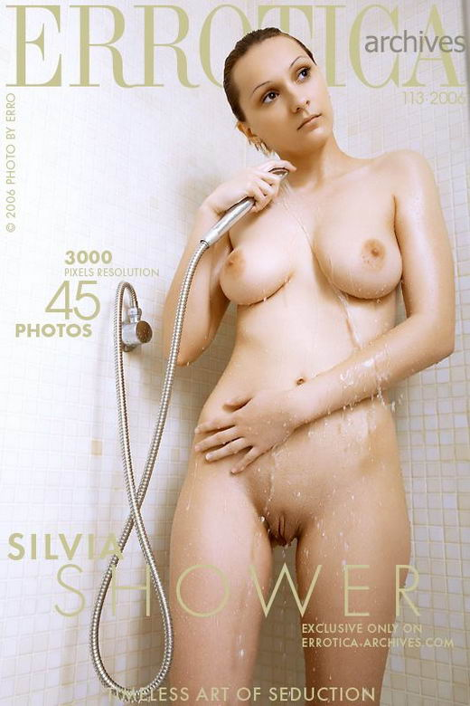 Silvia - `Shower` - by Erro for ERROTICA-ARCHIVES