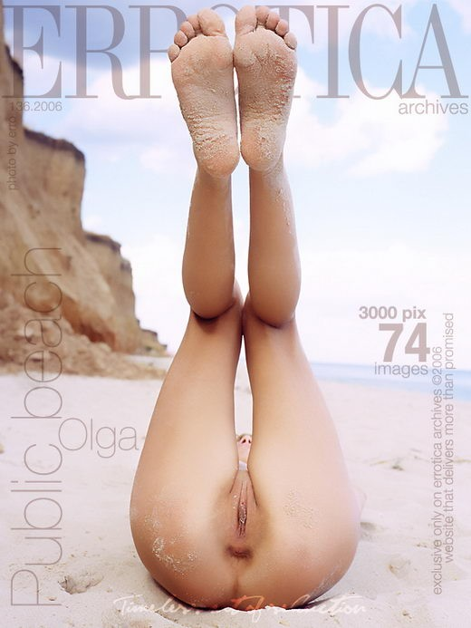 Olga - `Public Beach` - by Erro for ERROTICA-ARCHIVES