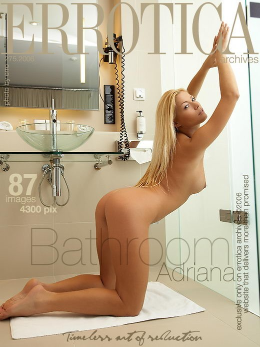 Adriana - `Bathroom` - by Erro for ERROTICA-ARCHIVES