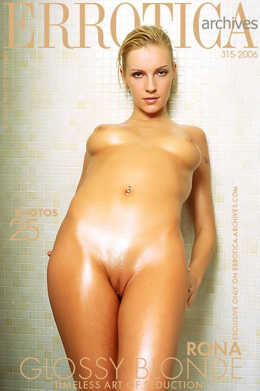 Rona - `Glossy Blonde` - by Erro for ERROTICA-ARCHIVES