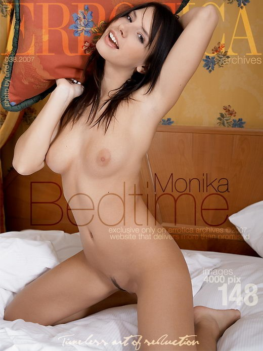 Monika - `Bedtime` - by Erro for ERROTICA-ARCHIVES