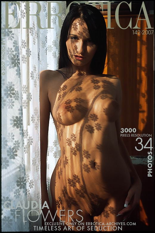 Claudia - `Flowers` - by Erro for ERROTICA-ARCHIVES