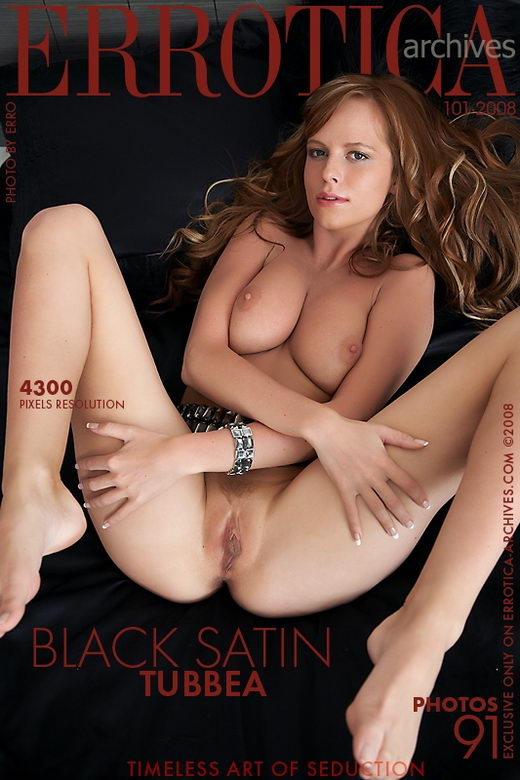 Tubbea - `Black Satin` - by Erro for ERROTICA-ARCHIVES