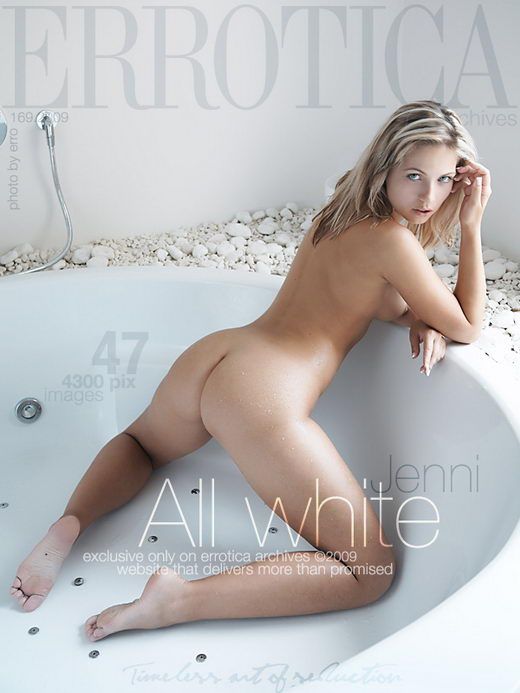 Jenni - `All White` - by Erro for ERROTICA-ARCHIVES