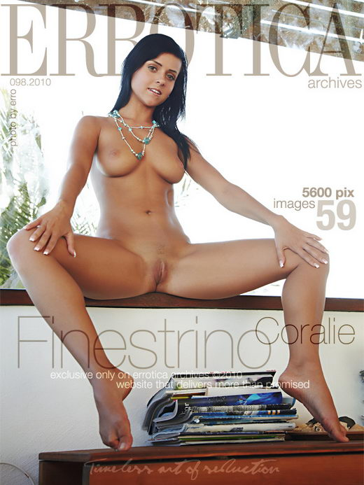 Coralie - `Finestrino` - by Erro for ERROTICA-ARCHIVES
