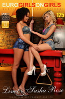 Sasha Rose & Linet - Cue stick love session!