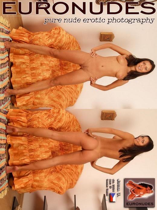 Jirina U - `Model Page` - for EURONUDES ARCHIVES