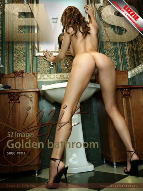 Lizzie - `Golden Bathroom` - by Filip Fau for EVASGARDEN