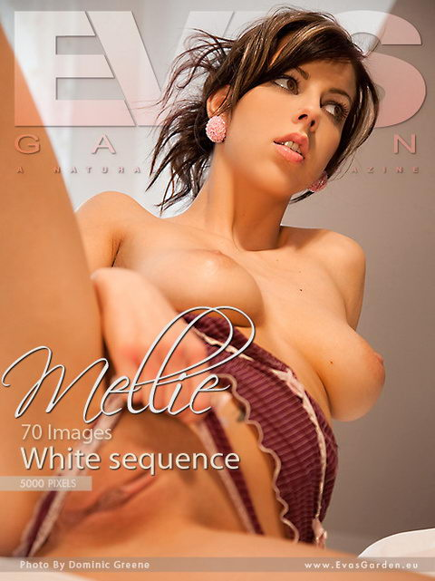 Mellie - `White Sequence` - by Dominic Green for EVASGARDEN