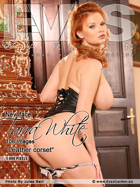 Tarra White - `Leather Corset` - by Jules Bart for EVASGARDEN