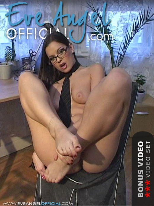 Eve Angel - `Smoking Secretary Foot Fetish Scene` - for EVEANGELOFFICIAL
