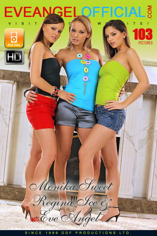 Regina Ice & Monika Sweet & Eve Angel - `Eve in a hot lesbian threesome` - for EVEANGELOFFICIAL