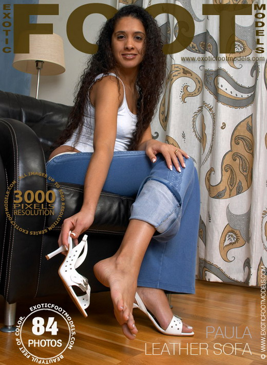 Paula - `Leather Sofa` - for EXOTICFOOTMODELS