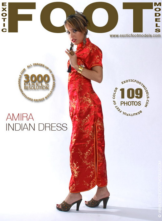 Amira - `Indian Dress` - for EXOTICFOOTMODELS