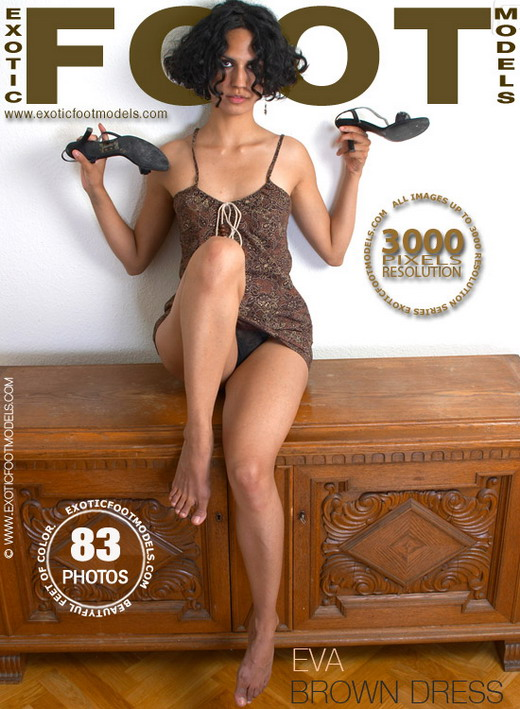 Eva - `Brown Dress` - for EXOTICFOOTMODELS