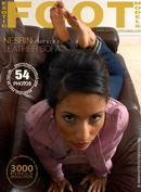 Nesrin in Leather Sofa - Part 2 gallery from EXOTICFOOTMODELS