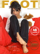 Nesrin in Red Sofa - Part 1 gallery from EXOTICFOOTMODELS
