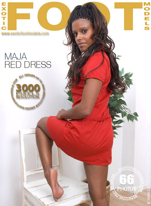 Maja - `Red Dress` - for EXOTICFOOTMODELS